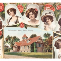 Easthampton Belles, Emily Williston Library (postcard)