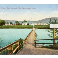 Footbridge, Lower Mill Pond (Postcard)
